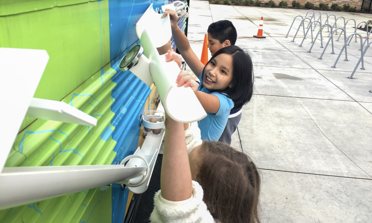 Kids at Beaverton SD play on a future ready bus