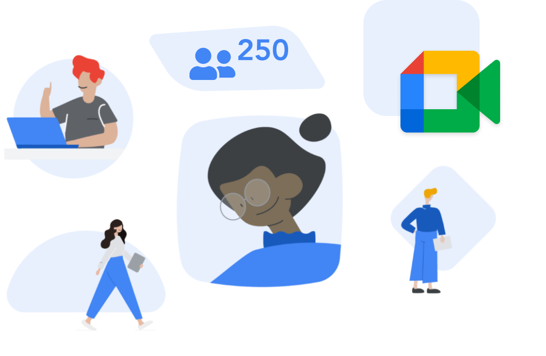 Larger classrooms with Enhanced Google Meet features