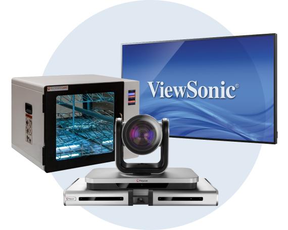 Hybrid classroom tools, displays, and cameras
