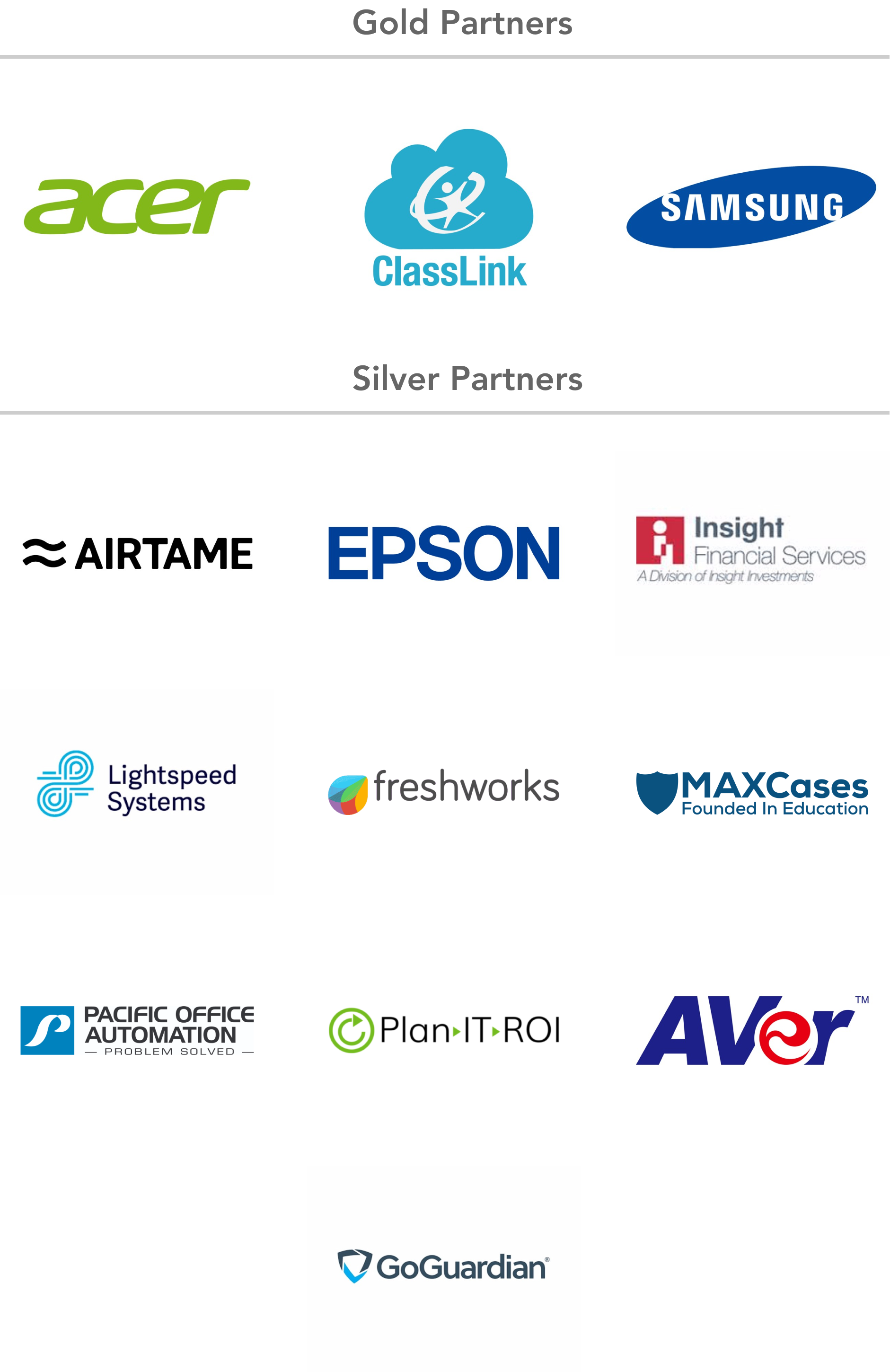 Summit 2021 Sponsors